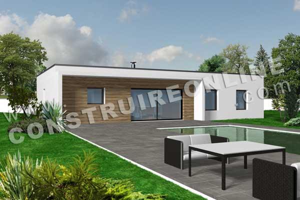 de maison contemporain de plain pied wifi t4 123m² modèle de maison ...