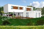 maison contemporaine à étage avec piscine