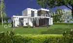 villa moderne comprenant un étage et un balcon