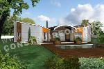 modèle de maison moderne style papillon
