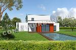 belle villa contemporaine à étage entièrement en toiture terrasse