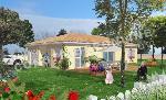 maison traditionnelle de plein pied avec terrasse couverte