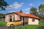Maison traditionnelle de plain-pied de 100 mètres carré
