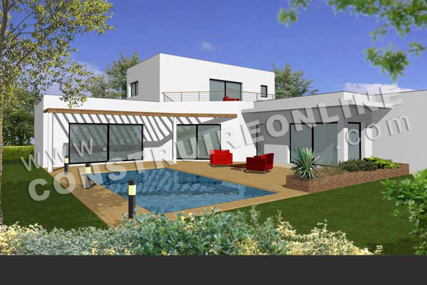 plan maison contemporaine toulouse