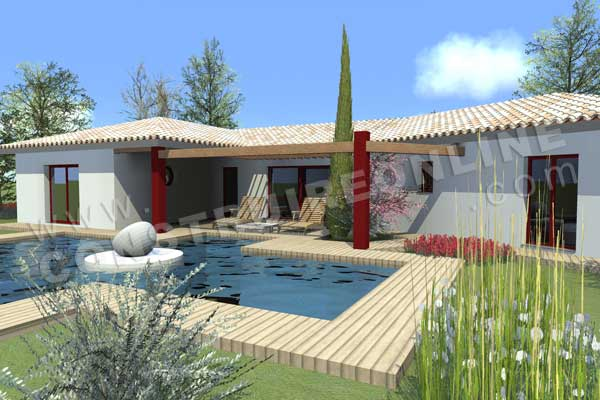 Maison moderne en v on a envie d tre au bord de la for Modele maison en v