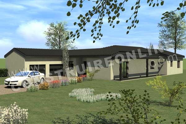 Plans de maisons de plein pied nos derniers mod les en - Modele de maison plain pied moderne ...