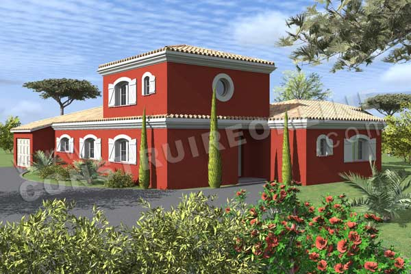 plan de villa provençale à étage