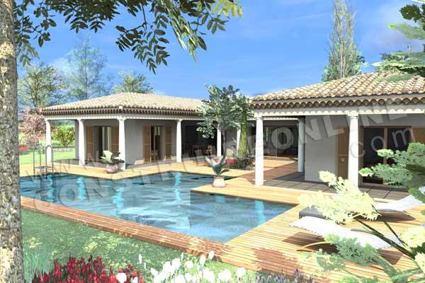 modèle de maison provençal de plein-pied