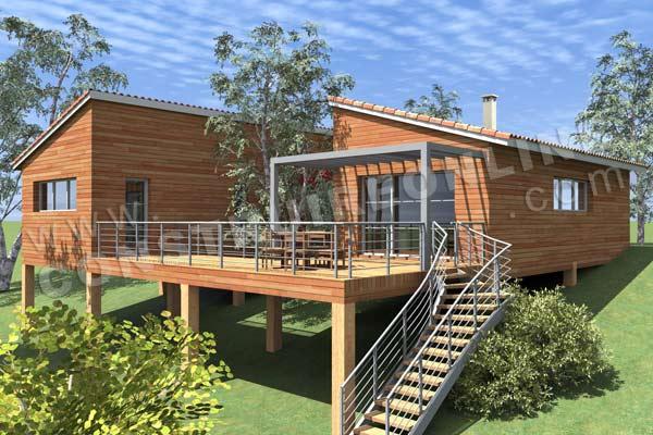 les nouveaux plans de maison de la semaine : plan fluvia, podihome ... - Construire Une Terrasse En Bois Sur Pilotis