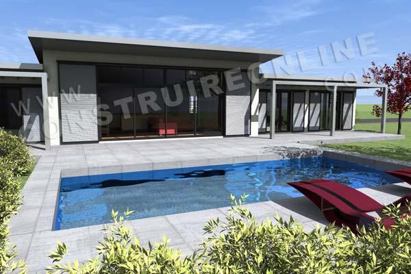 les deux nouveaux plans de maison de la semaine modle zenith et maison moderne avectoiture - Maison Moderne Avectoiture