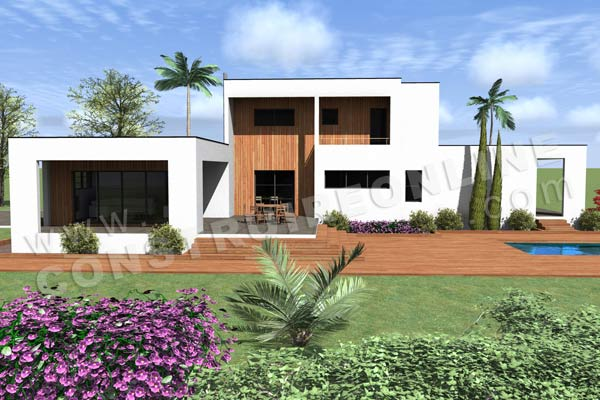 Nos derniers plans de maison cubique for Villa contemporaine plan