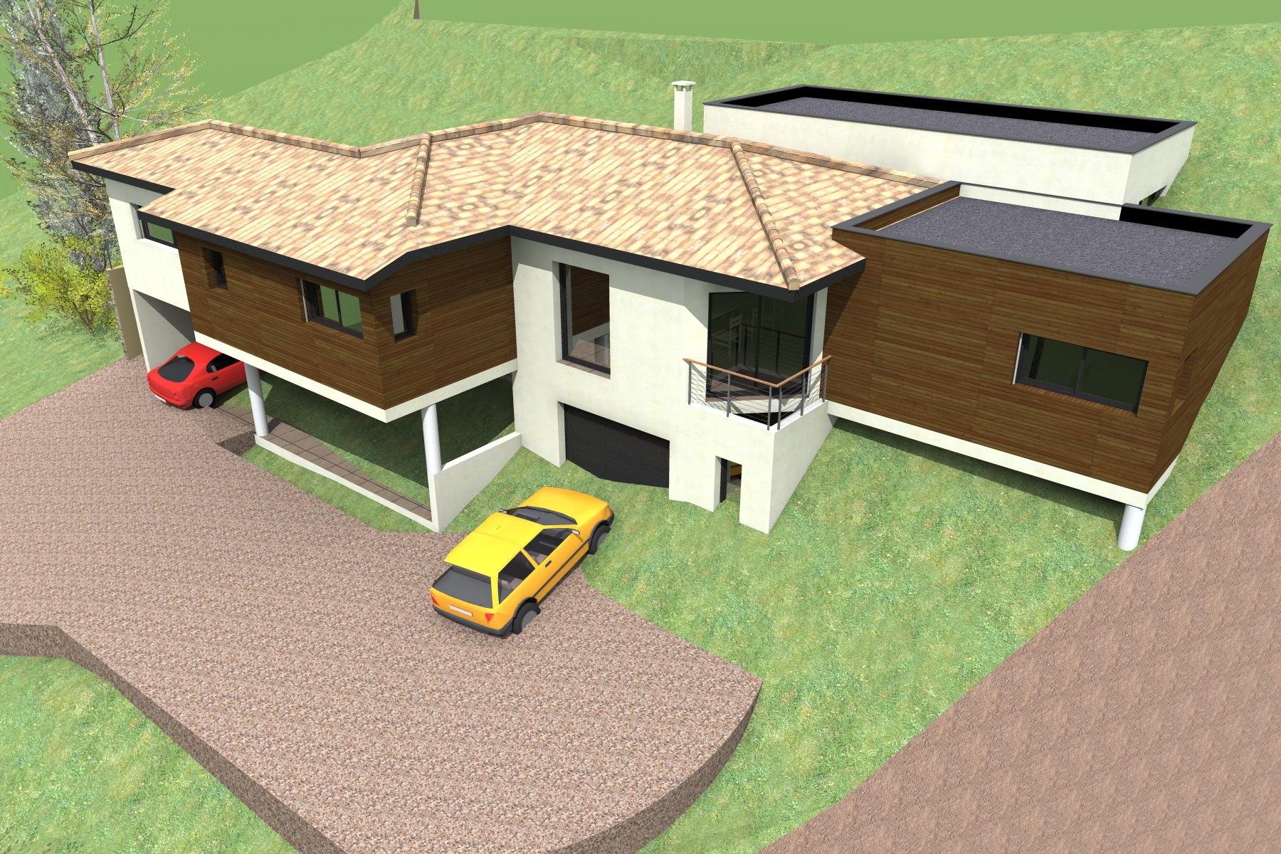 Etude de plan de villa proche de nice 06 - Piscine pente terrain nice ...