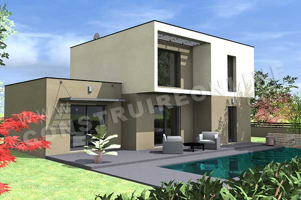 Pr sentation de plan de maison rainbow for Couleur maison moderne exterieur