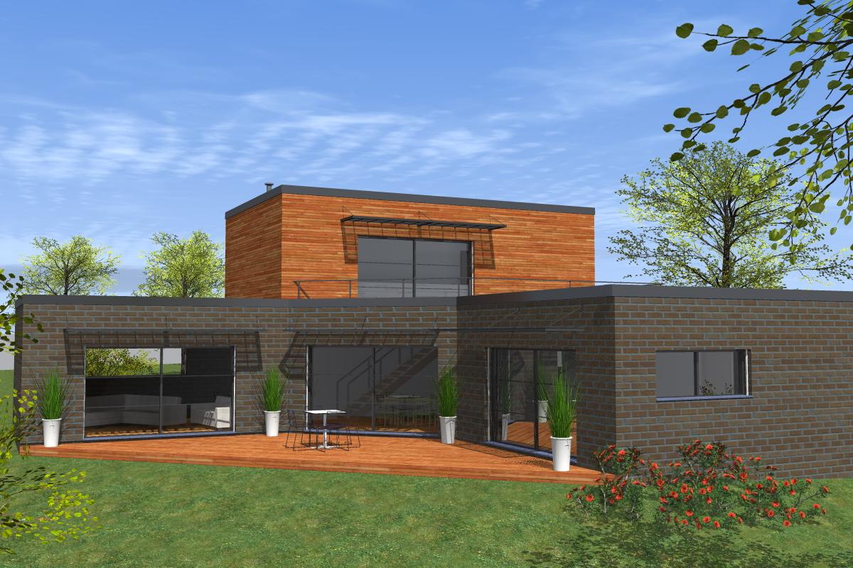 Projet de construction aizecourt le haut dans le for Maison contemporaine italienne
