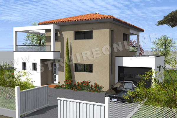 Zoom sur plan de maison birdy for Les plans des villas modernes