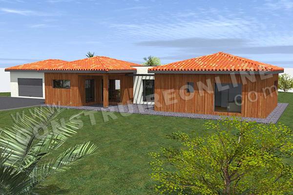 Plans et permis de construire pour un projet de maison en for Constructeur maison en bois tarn et garonne