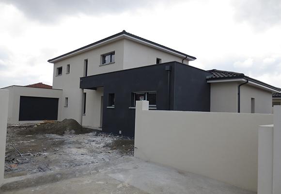facade maison blanc et gris pierre pour exterieur maison du charme pour une maison avec. Black Bedroom Furniture Sets. Home Design Ideas
