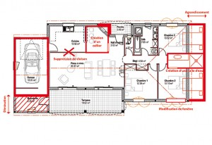 modification plan maison