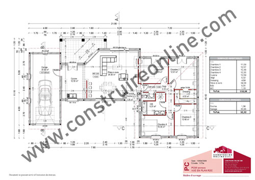 Plan de construction de maison individuelle for Plan de construction maison