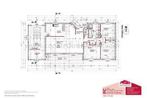plan maison contemporain coupe