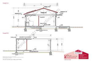Plan de maison gratuit for Plan facade maison