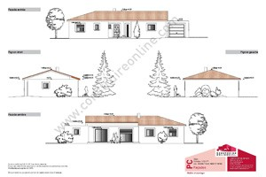 plan maison contemporain facades