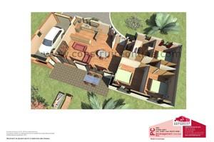 plan maison contemporain vue coupe