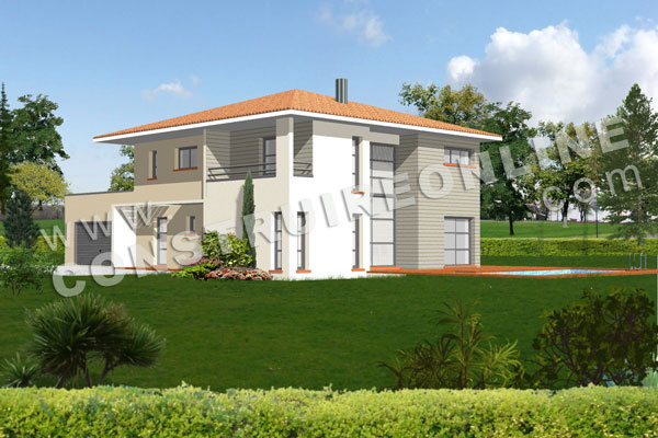 Plan de maison moderne bali for Plan des villas modernes