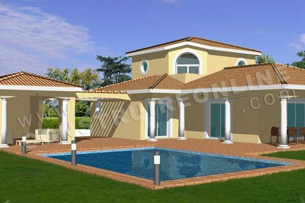 plan de maison méditerranéenne