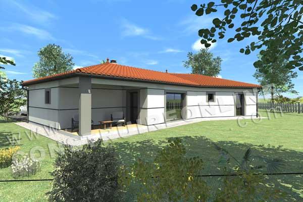 Plan de maison moderne midnight for Modele interieur maison