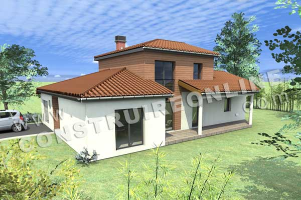 Plan de maison moderne claris - Devis construction maison gratuit ...