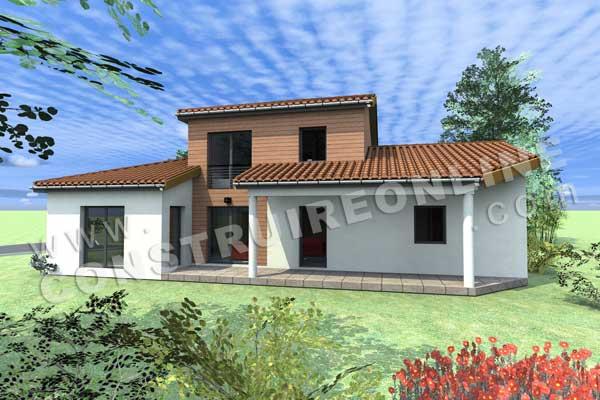 Vente de plan de maison tage for Plan maison etage 4 chambres 1 bureau