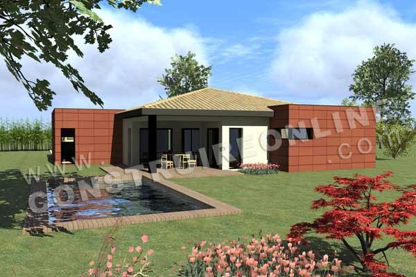 plan de maison contemporaine carre d as. Black Bedroom Furniture Sets. Home Design Ideas