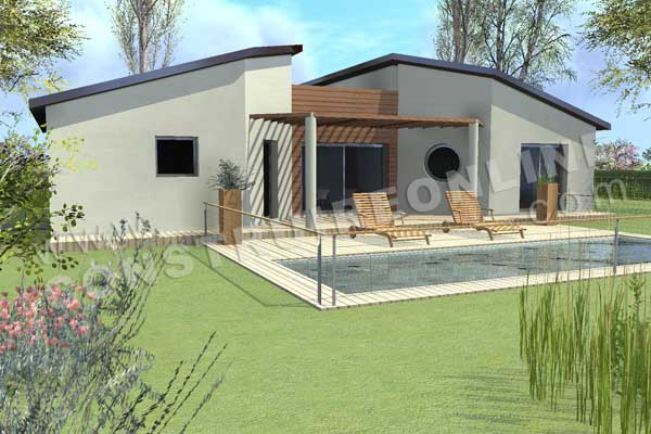 Plan de maison contemporaine tronic for Maison en 3d