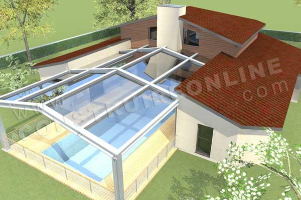 Plan de maison contemporaine toleda - Modele interieur maison moderne ...