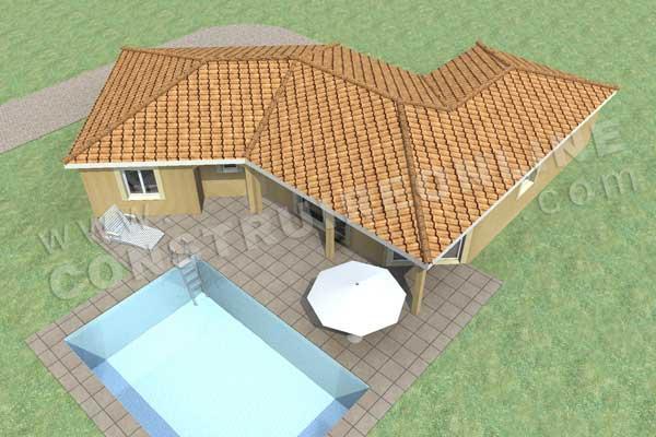 Plan de maison traditionnelle gralica - Modele de maison en v ...