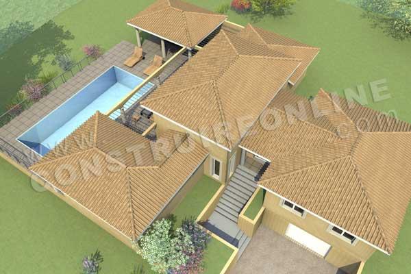 Plan de maison traditionnelle calanque - Modele de plan de construction maison gratuit ...