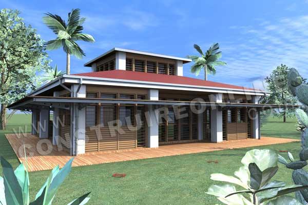Plan de maison contemporaine karukera for Modele maison gratuit