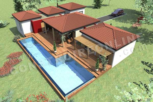 Plan de maison sakawoule for Plan exterieur maison 3d gratuit