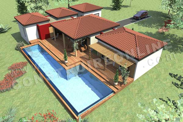 Plan de maison sakawoule for Plan maison en y