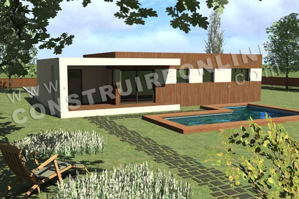 Plan de maison contemporaine anonymhouse for Maison toit terrasse plain pied