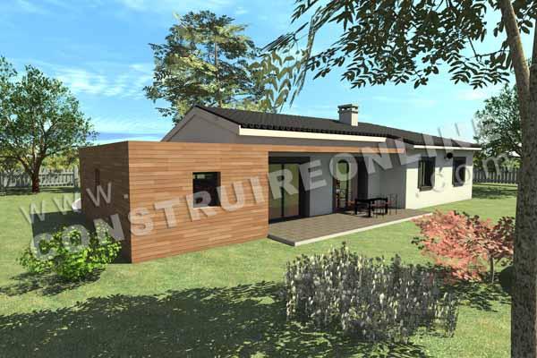 Plan de maison moderne nighty nine for Paiement construction maison