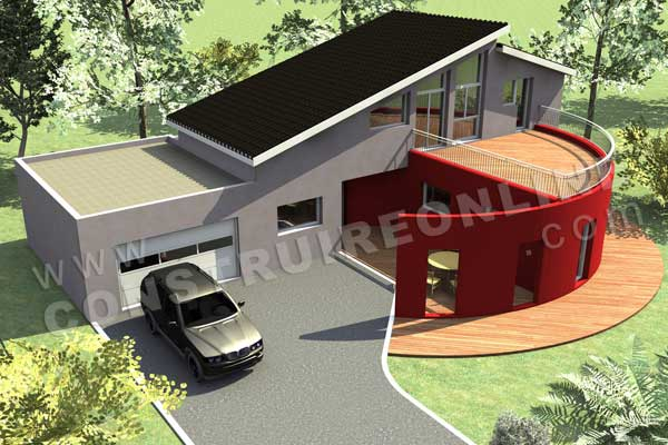 Plan de maison moderne panoramix for Site de construction de maison 3d