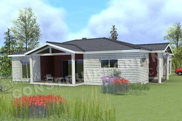 Plan de maison bois oclahome - Plan maison bois gratuit ...