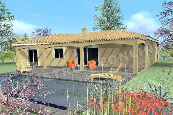 Plan de maison traditionnelle esterel - Plan maison provencale gratuit ...