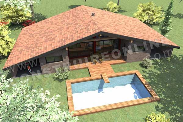 Plan de maison moderne metairie Voir interieur maison moderne