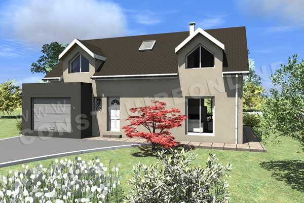 Plan de maison moderne aubisque for Voir sa maison en 3d