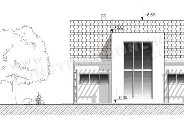 Plan de maison galibier for Plan facade maison moderne