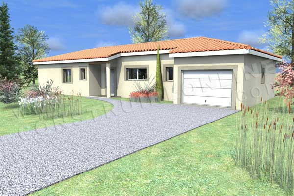 Plan de maison oriole for Plan maison garage a droite