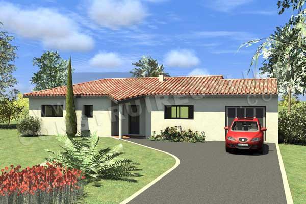 Plan de maison moderne neo - Modele plan maison plain pied gratuit ...